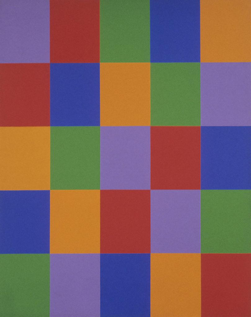 Guido Molinari, Structure no. 2, 1969, acrylique sur toile, 292,2 x 231,5 cm