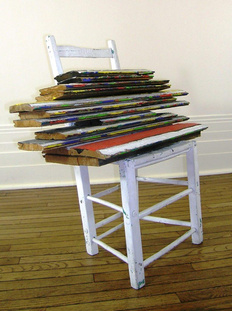 Serge Lemoyne, sans titre, 1995, acrylique sur bois, 86 x 84 x 44,7 cm