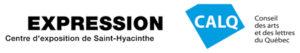 Logo EXPRESSION, Centre d'exposition de Saint-Hyacinthe et du Conseil des arts et des lettres du Québec