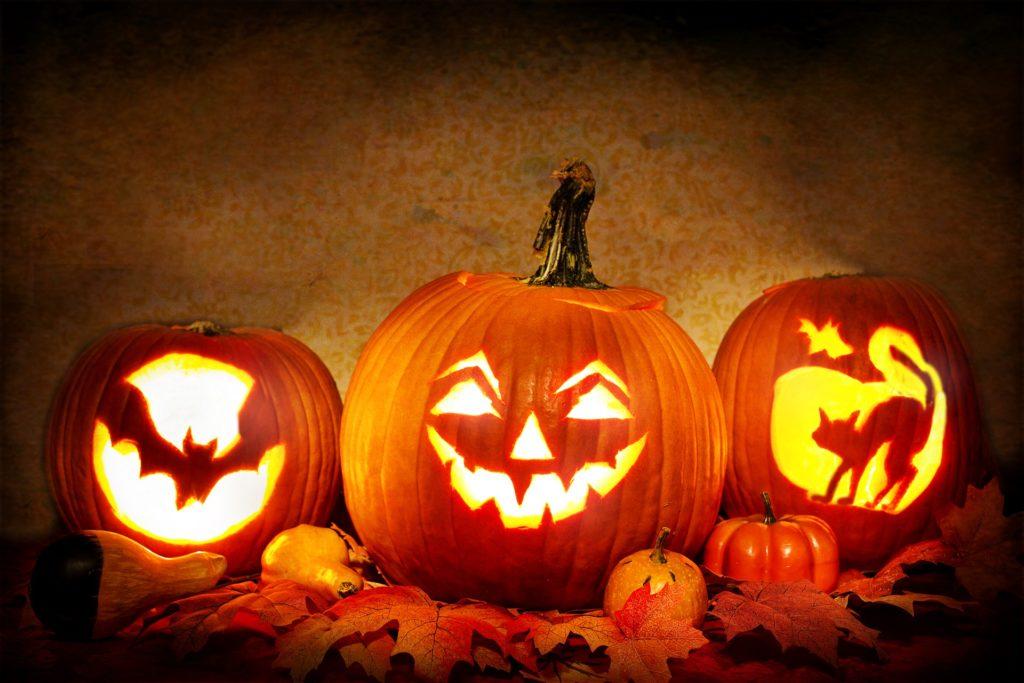 Trois citrouilles d'Halloween