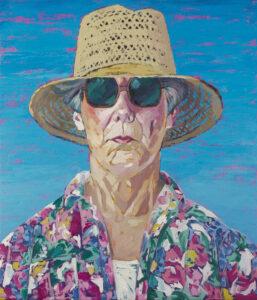 Louise Cimon-Annett, Autoportrait, 1984, acrylique sur toile, 35 x 27,5 cm. Don de Monsieur Jean Cimon.